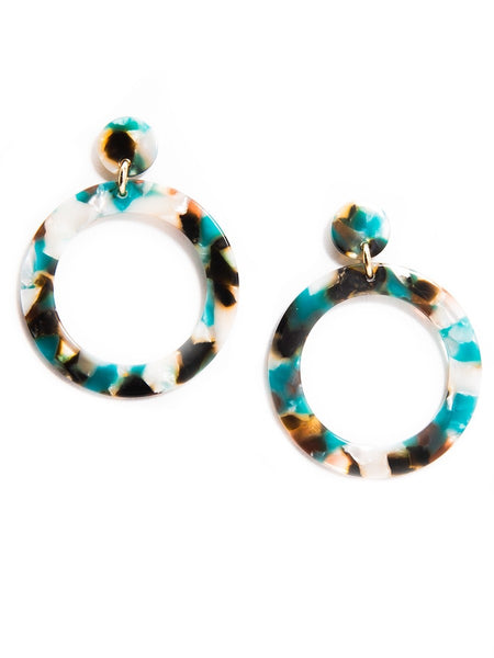Torti-ful Mod Earrings teal
