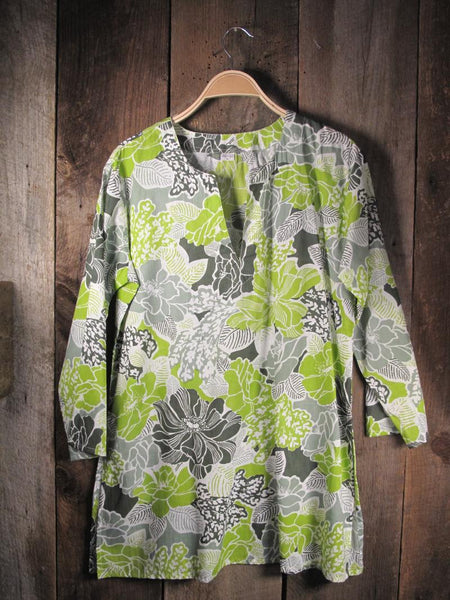 Tunic Bright Green and Gray