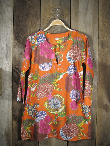 Tunic Floral on Orange