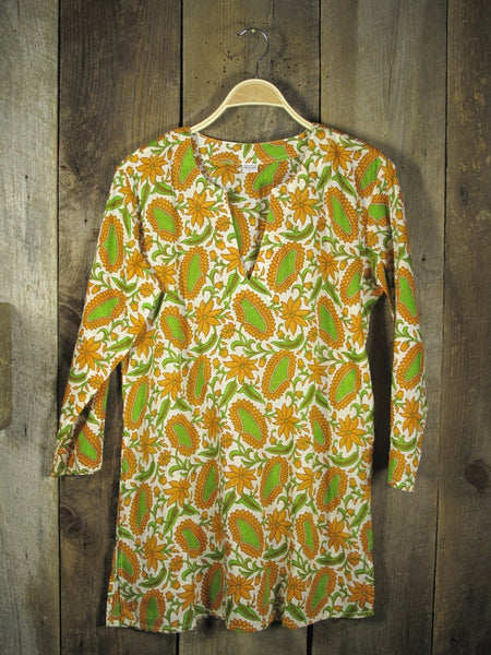 Cotton Tunic Top Bright Green