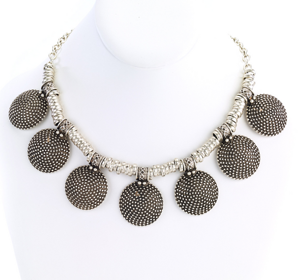 Vintage Turkish Multi Disk Necklace