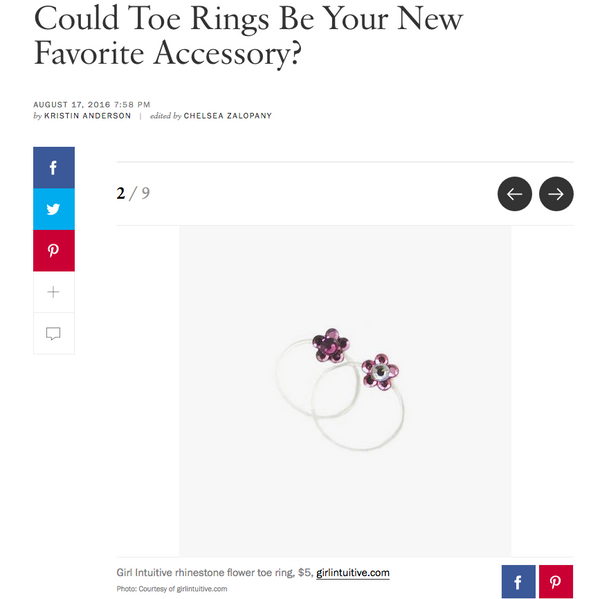 Vogue Magazine toe ring article
