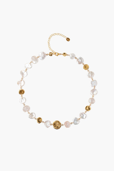 Chan Luu White Keshi Pearl Necklace