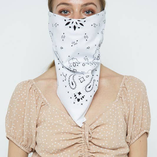 Scarves - Muted Color Bandana - Girl Intuitive - Leto - White