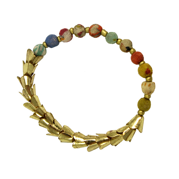 Worldfinds Kantha Laurel Bracelet