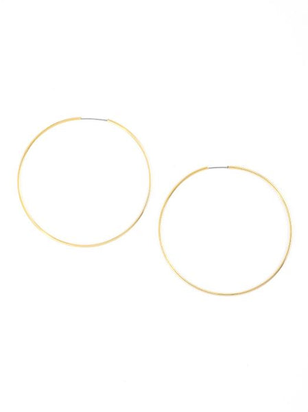 Zenzii Oh My! Statement Hoop Earrings