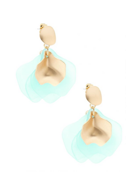 Zenzii Sheer Petals Drop Earrings