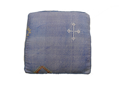 'Blue Bass' Moroccan Floor Pillow