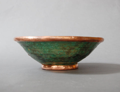 Gold Rim Tamegroute Pottery - Large Bowl