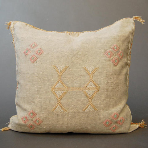 'Big Yellow Taxi'  Moroccan Sabra Silk Pillow