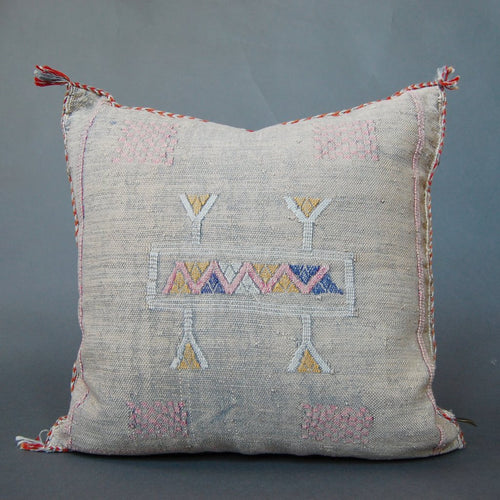 'Emma Rose'  Moroccan Sabra Silk Pillow - Maven Collection