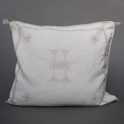 'Brown Bear' Lumbar Moroccan Woven Pillow