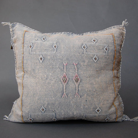 'Black Sabbath'  Moroccan Sabra Silk Pillow