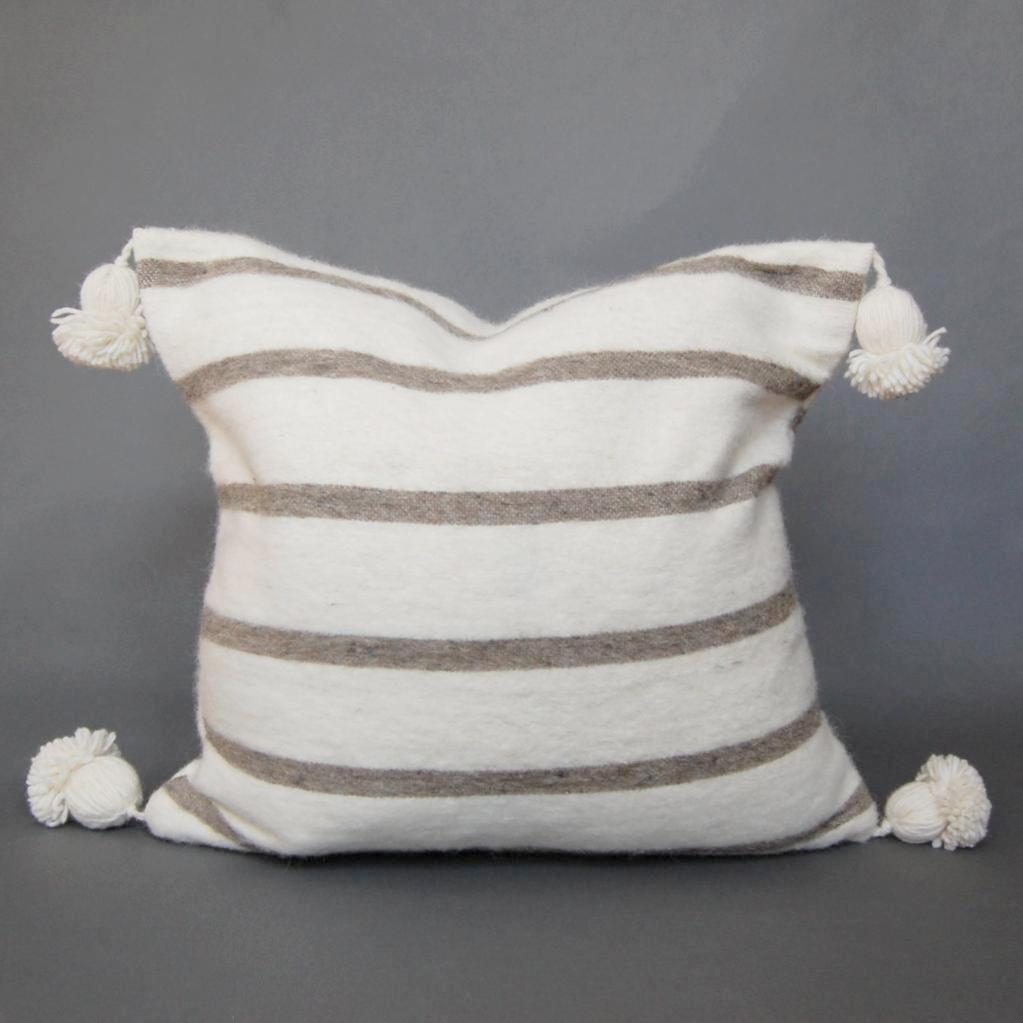 'Rag & Bow'  Moroccan Pom Pom Pillow - Maven Collection
