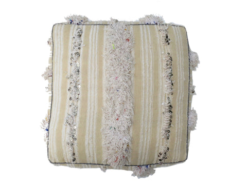 'Seawashed' Moroccan Floor Pillow