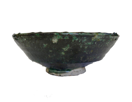Tamegroute Pottery - Large Bowl with Black Accent