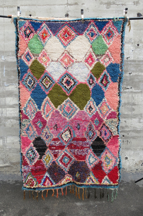 'EASTER EGG HUNT'  BOUCHEROUITE RAG RUG - Maven Collection