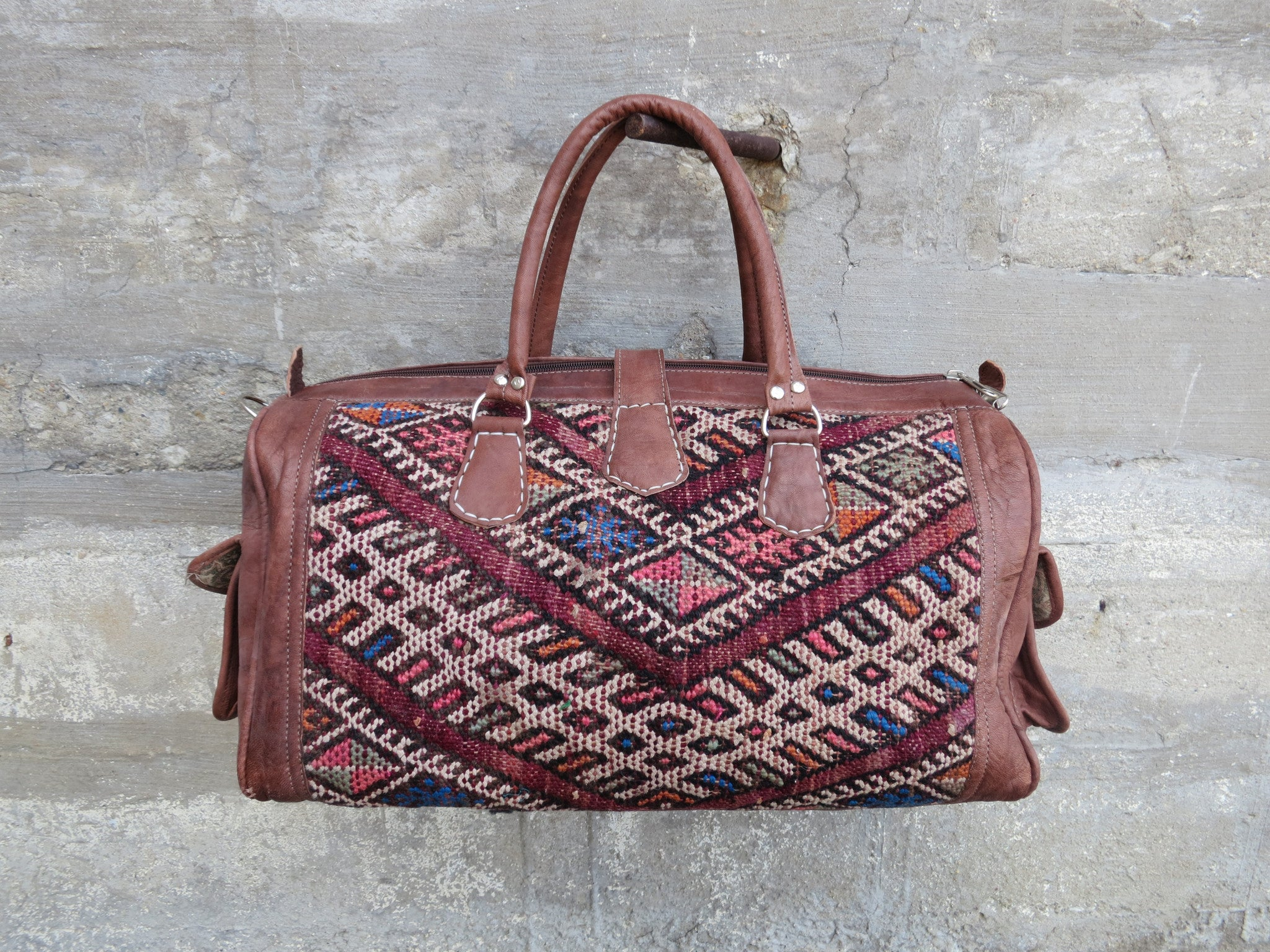 'BLUEBERRY PIE'  MOROCCAN KILIM BAG - Maven Collection
