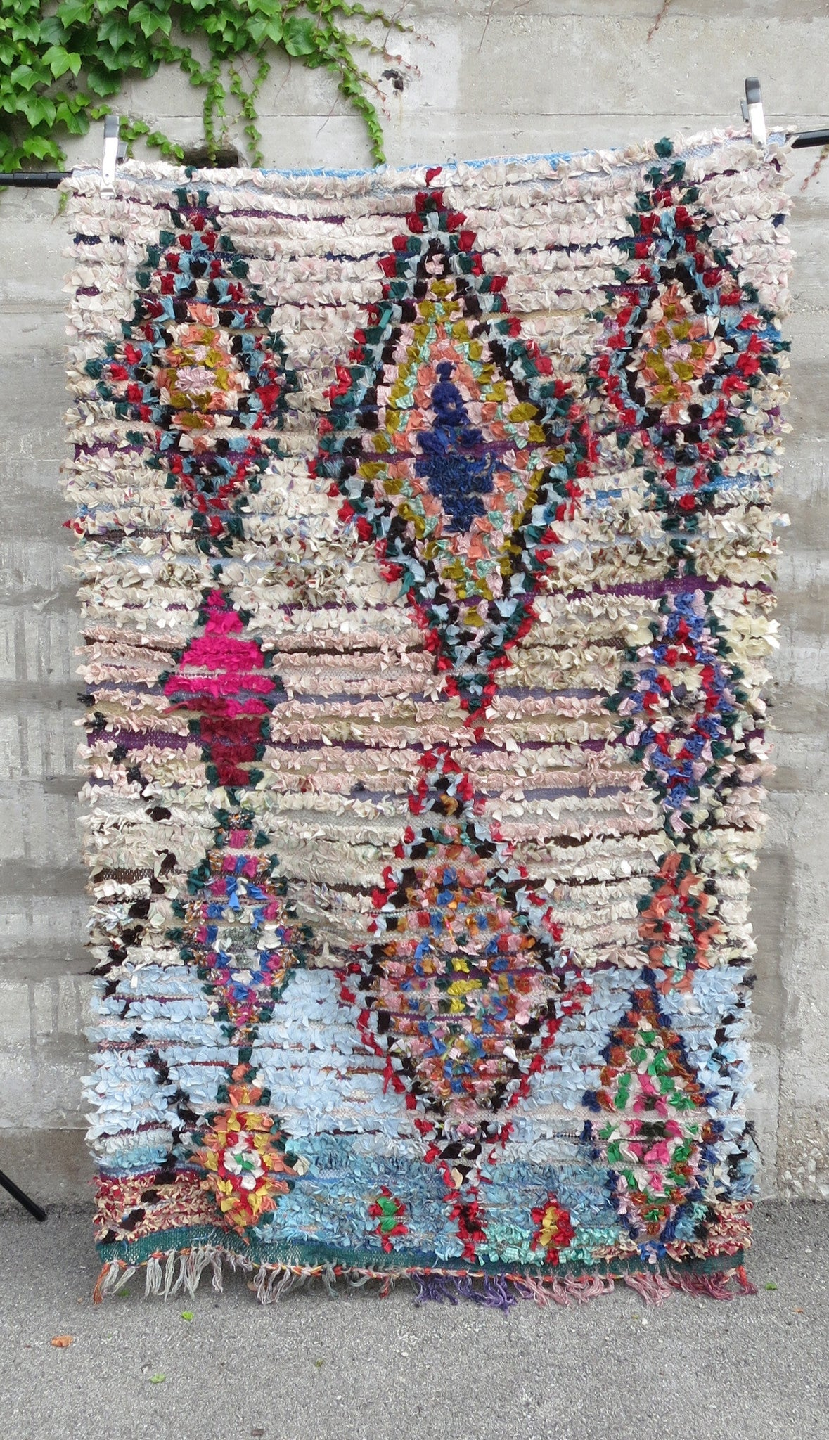 'RAINBOW BRIGHT'  BOUCHEROUITE RAG RUG - Maven Collection