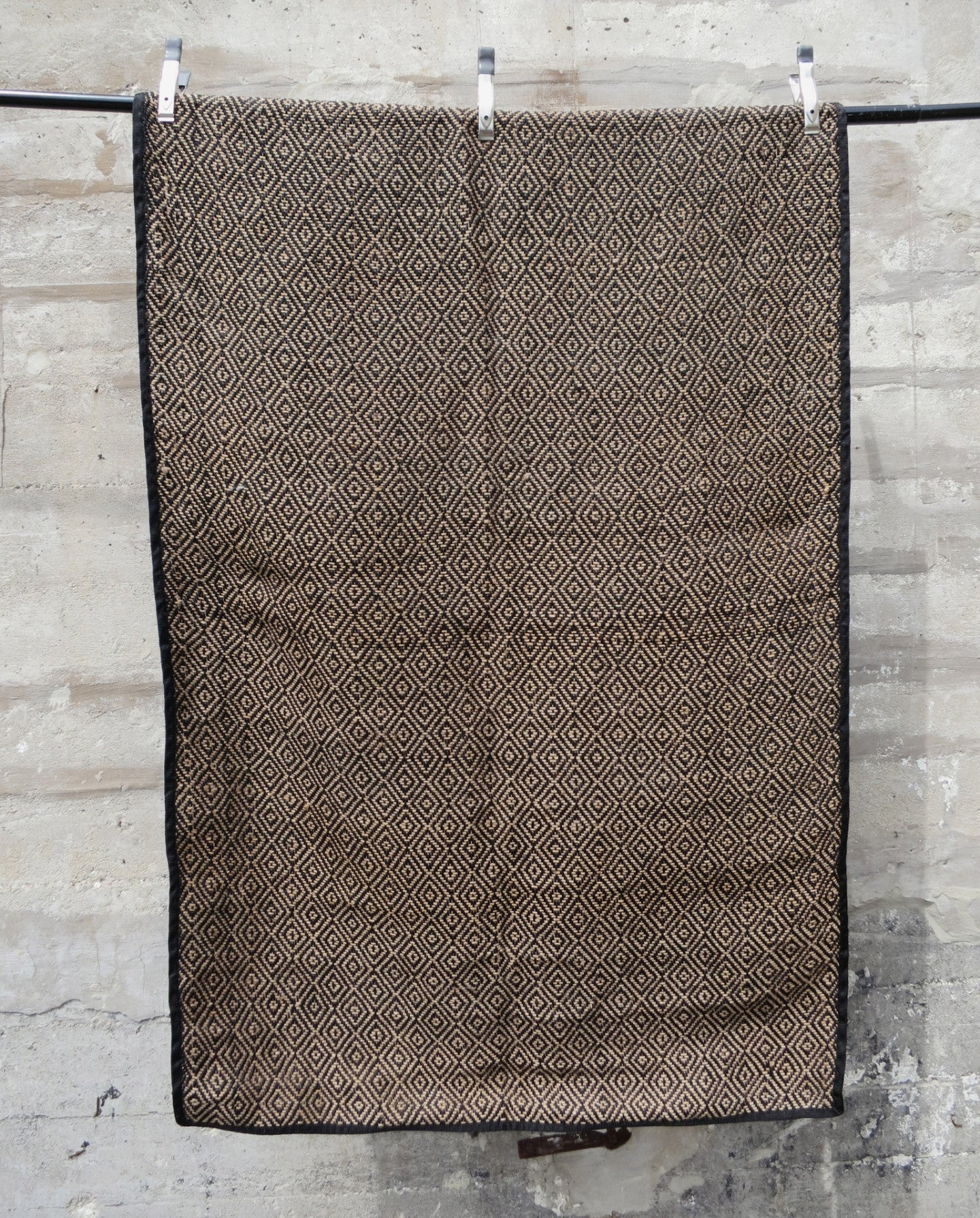 'Diamonds last Forever'  Handwoven Jute Rug
