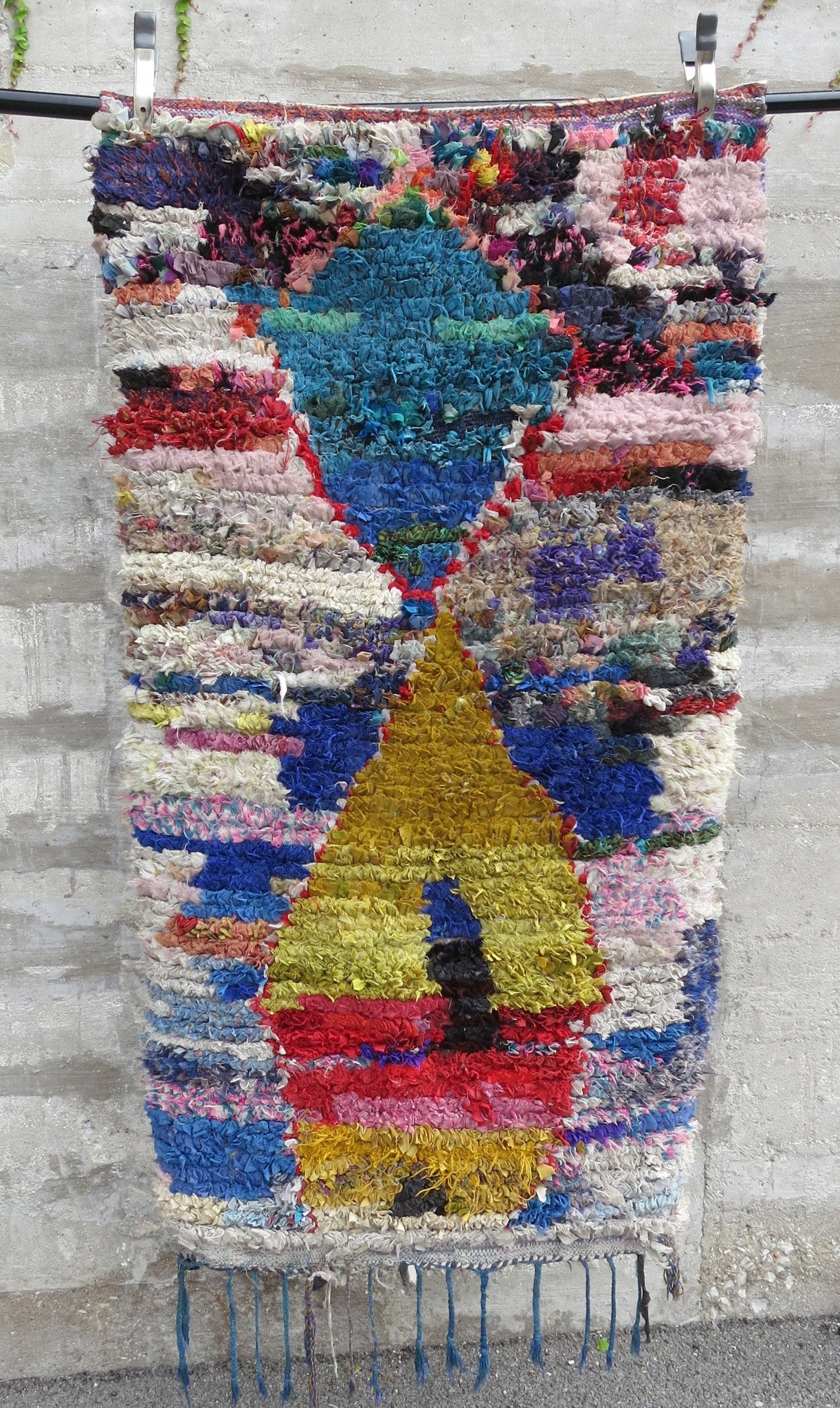 'ABSTRACT ART'  BOUCHEROUITE RAG RUG - Maven Collection