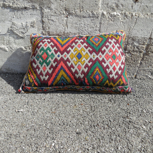 'KILIM DIAMONDS' BERBER WOOL PILLOW - Maven Collection