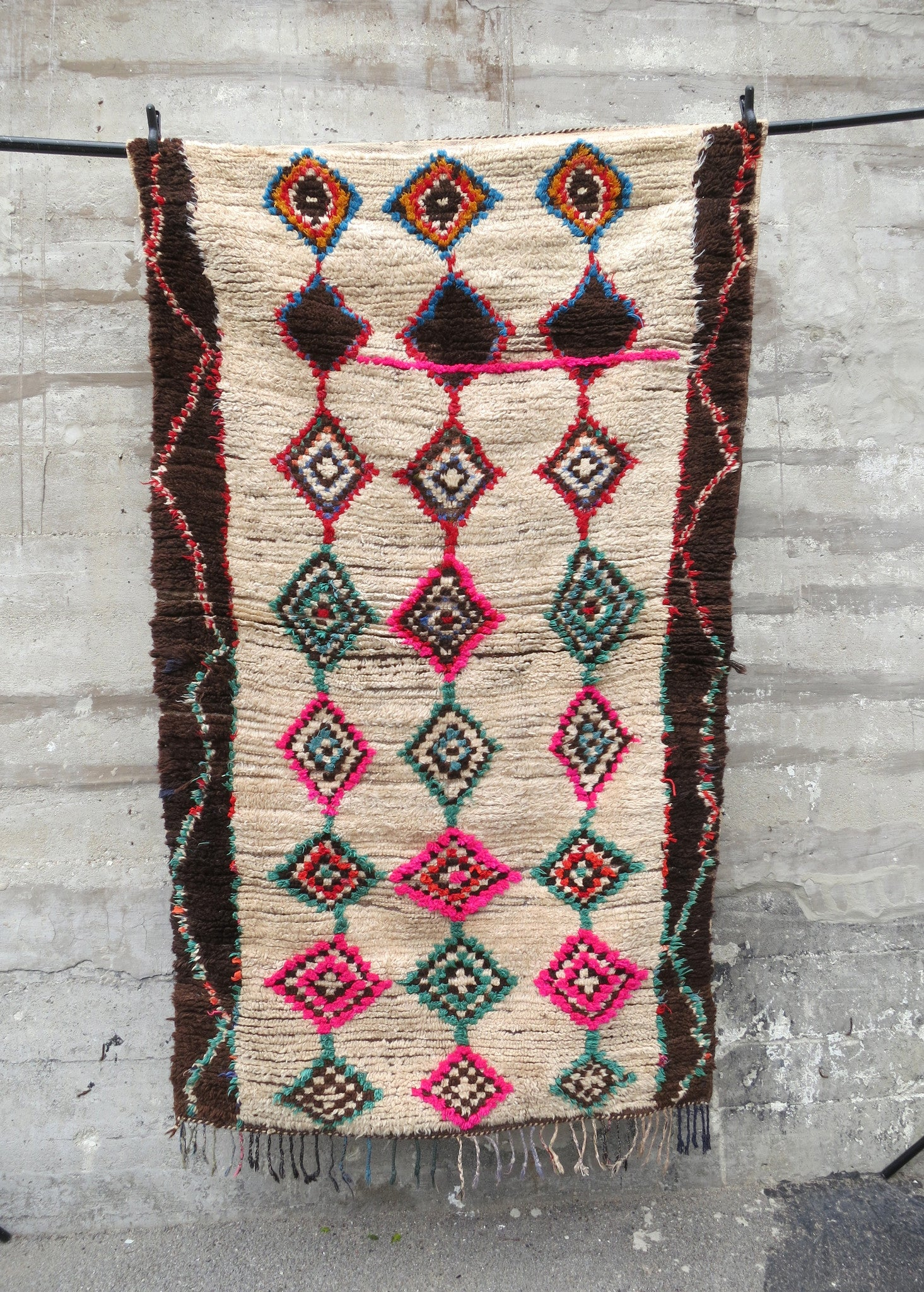 'OPPOSITES ATTRACT'  VINTAGE  AZILAL RUG - Maven Collection