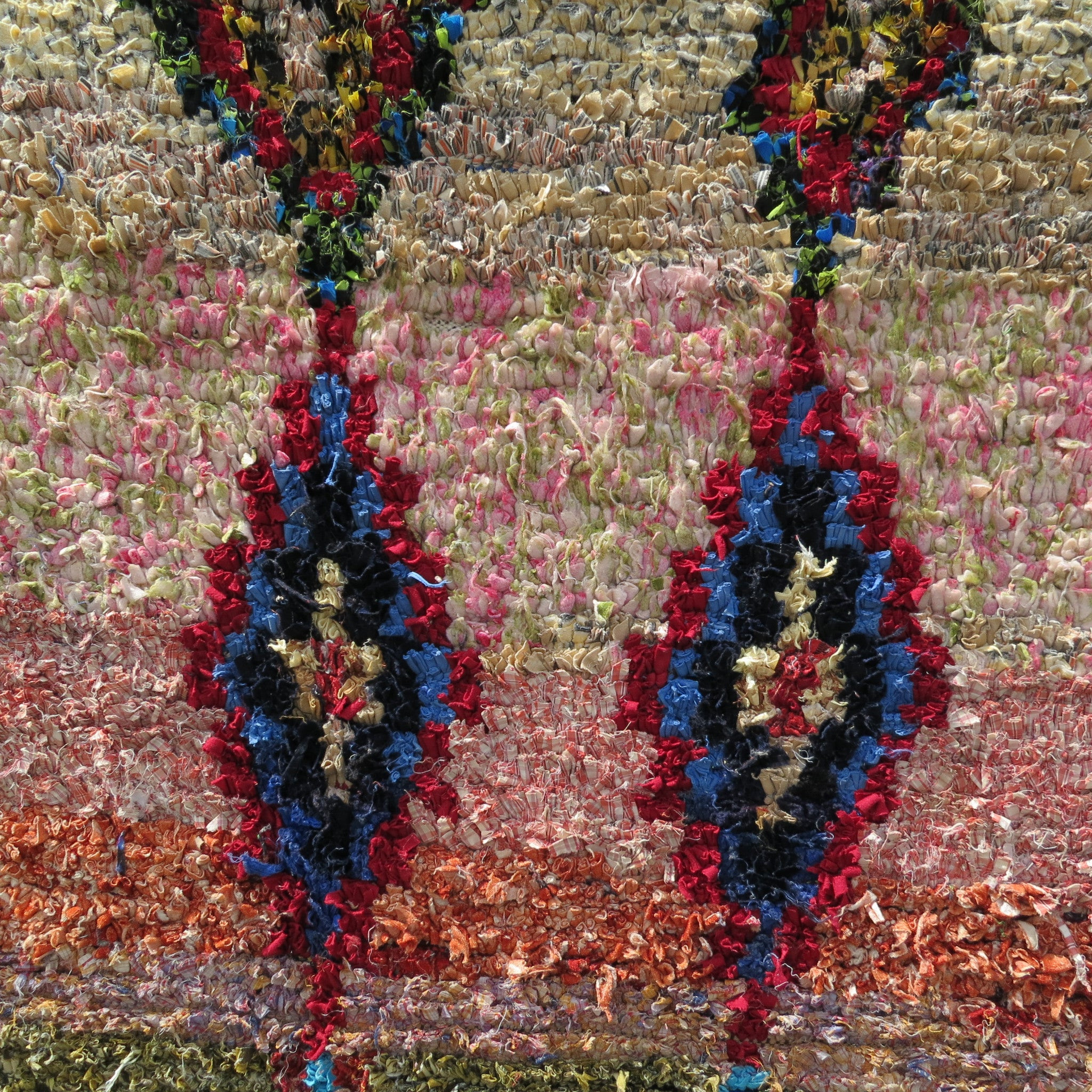 'GOLDEN CORRAL'  BOUCHEROUITE RAG RUG - Maven Collection