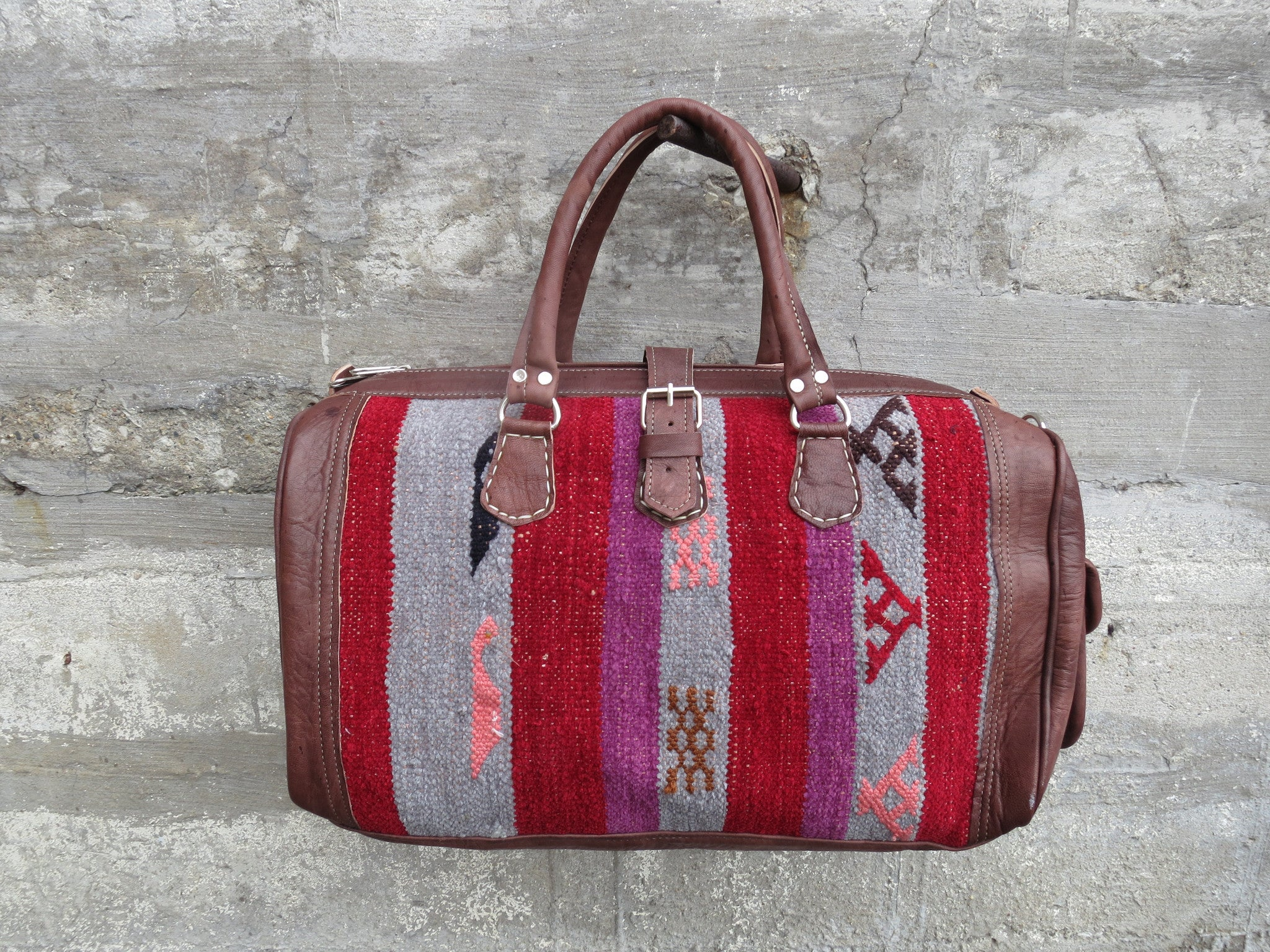 'ROUGE ROYAL'  MOROCCAN KILIM BAG - Maven Collection