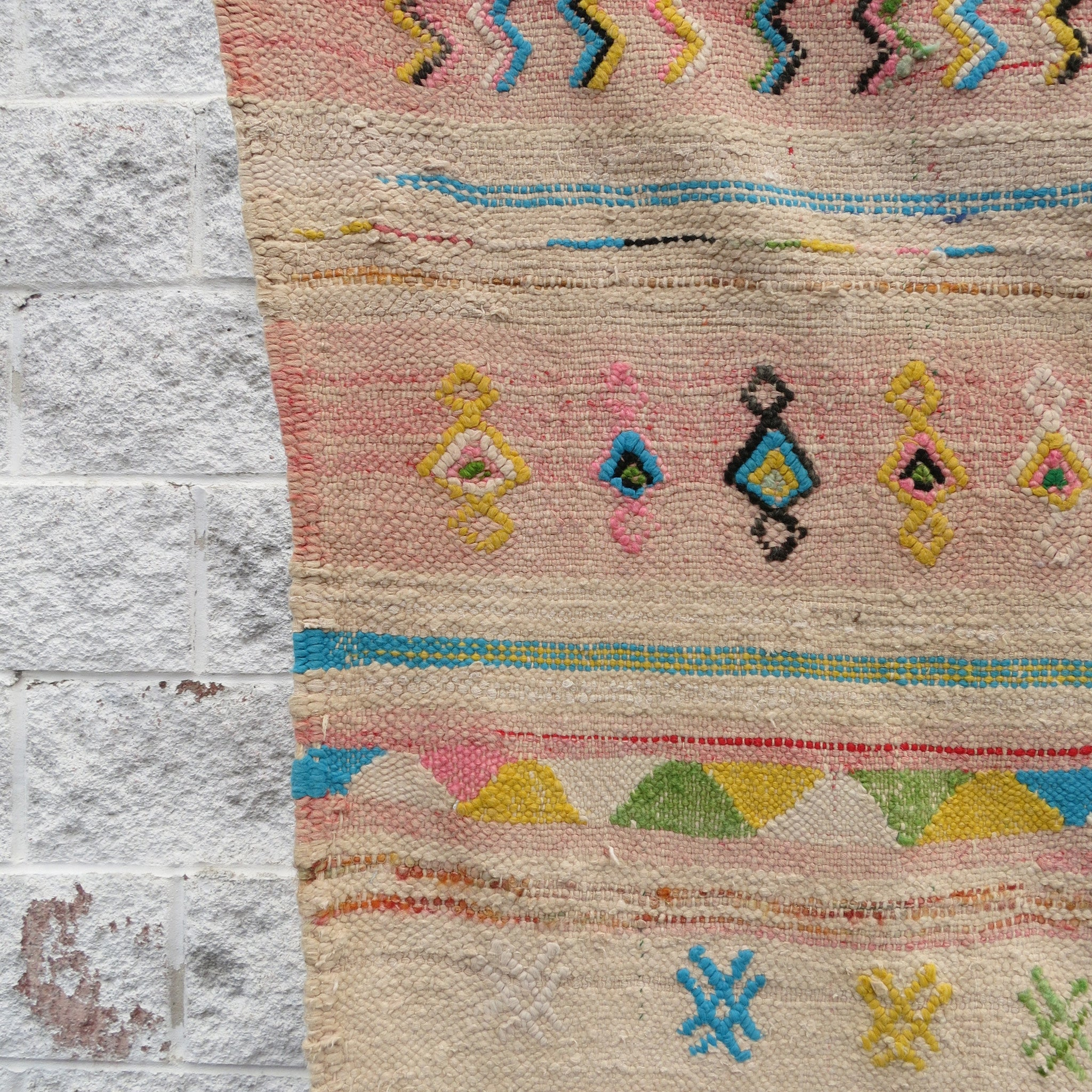 'IT'S A GIRL'  VINTAGE  BENI MELLAL RUG - Maven Collection