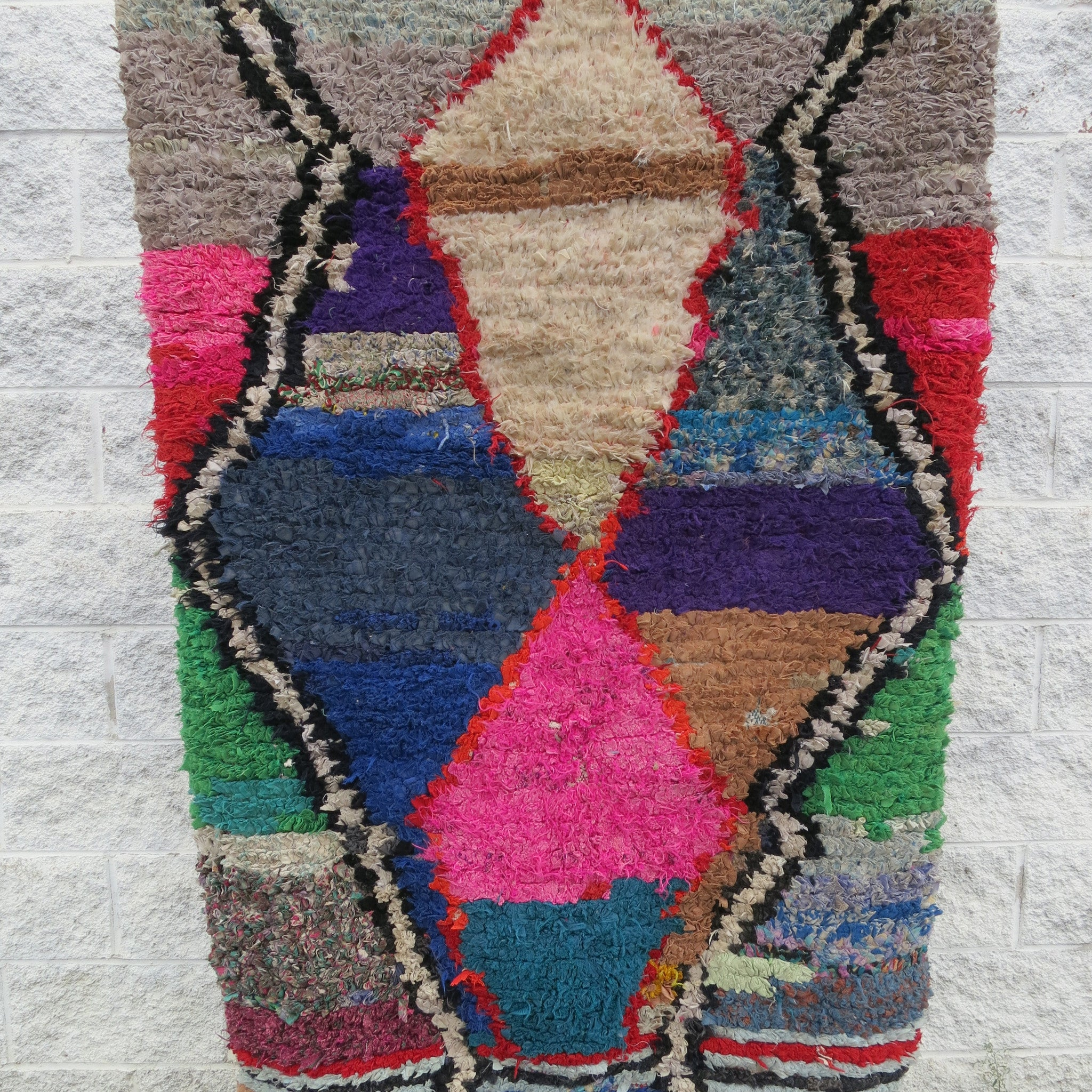 'COSMOPOLITAN' MOROCCAN BOUCHEROUITE RAG RUG - Maven Collection
