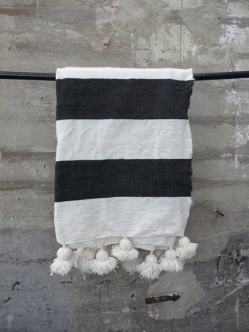 'NAUTICAL NEUTRAL'  BERBER WOOL BLANKET
