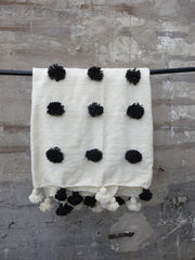 'DALMATIAN' POUF BERBER WOOL BLANKET - Maven Collection