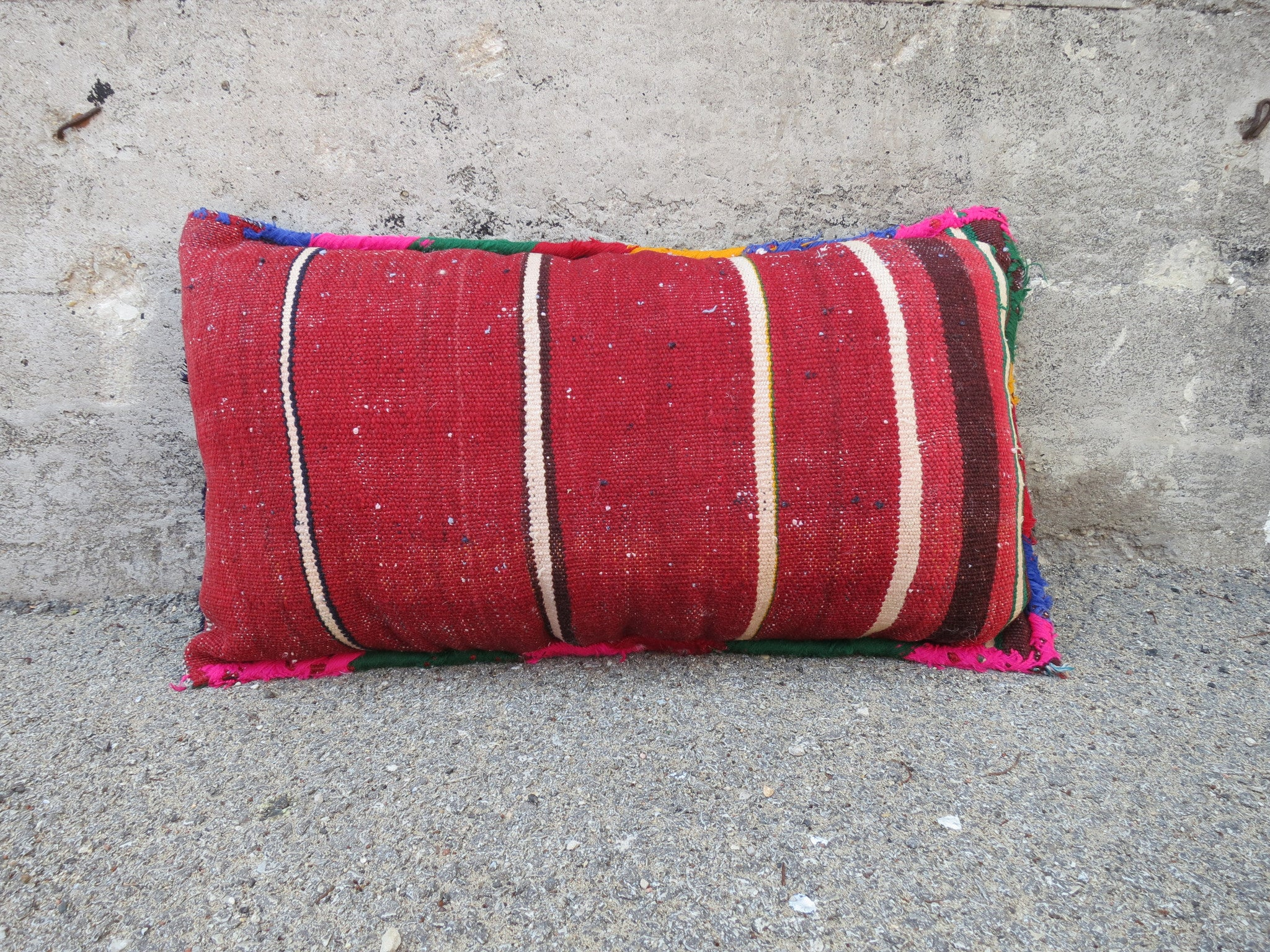 'RUSSIAN NAVY'  BERBER WOOL PILLOW - Maven Collection