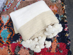 'NAUTICAL NEUTRAL'  BERBER WOOL BLANKET - Maven Collection