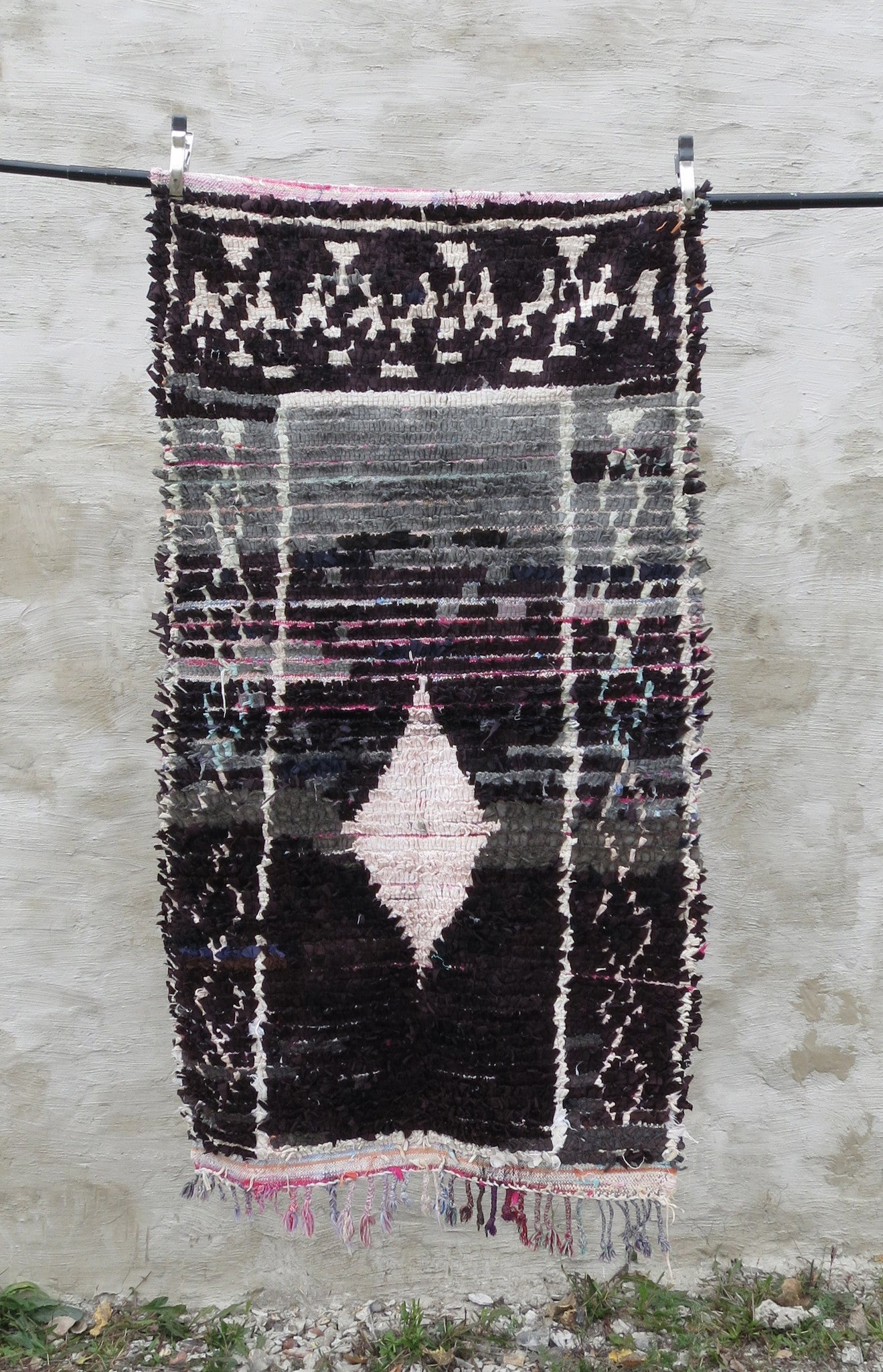 'BLACK SABBATH'  BOUCHEROUITE RAG RUG - Maven Collection