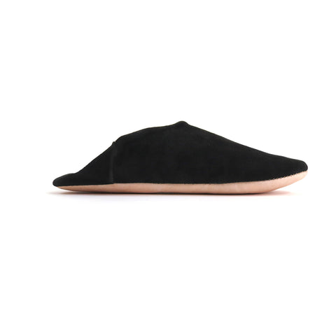 'BLACK DIAMOND'  SUEDE BABOUCHE SLIPPERS