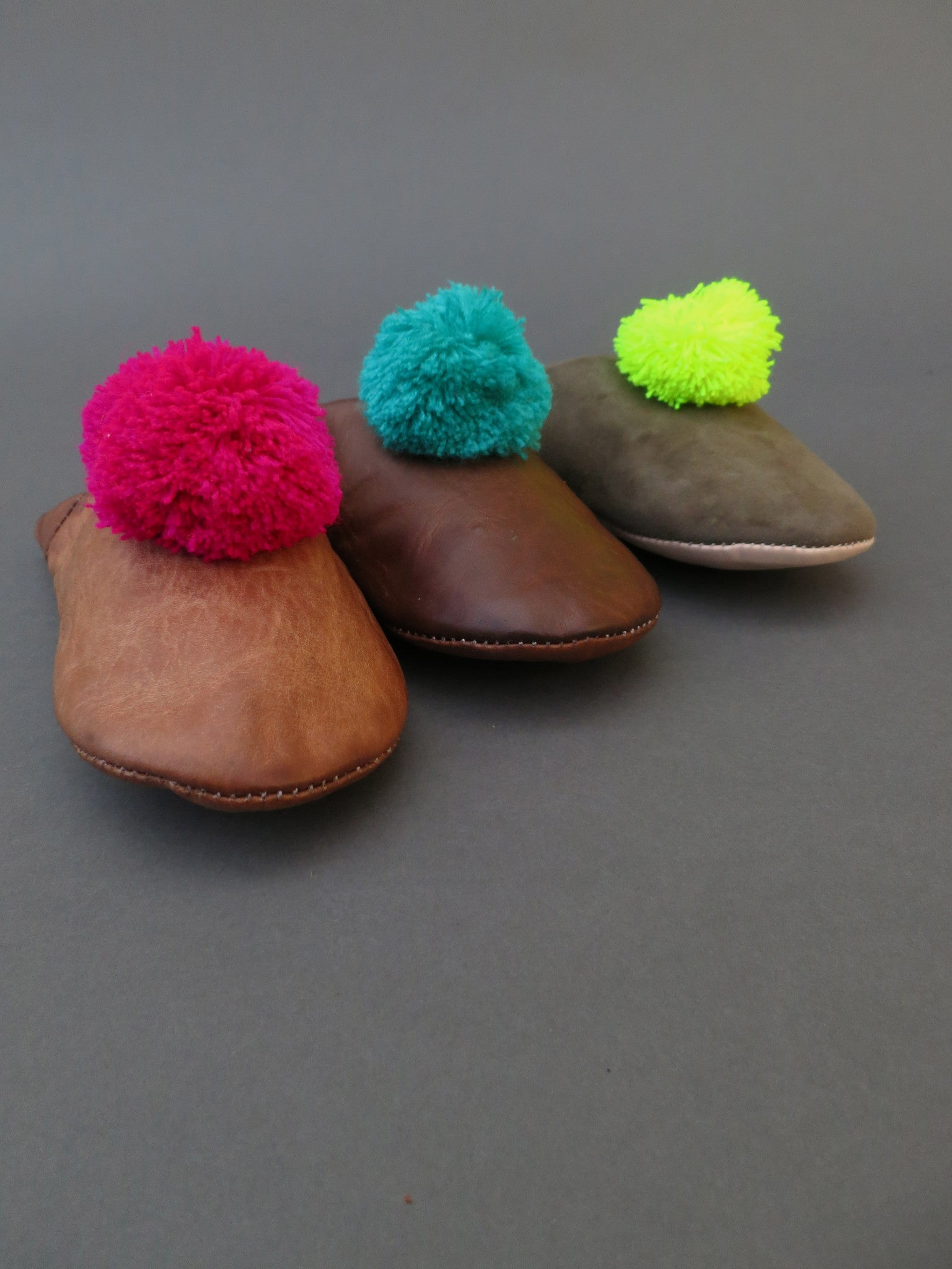Pom Pom Babouche Slippers - Maven Collection