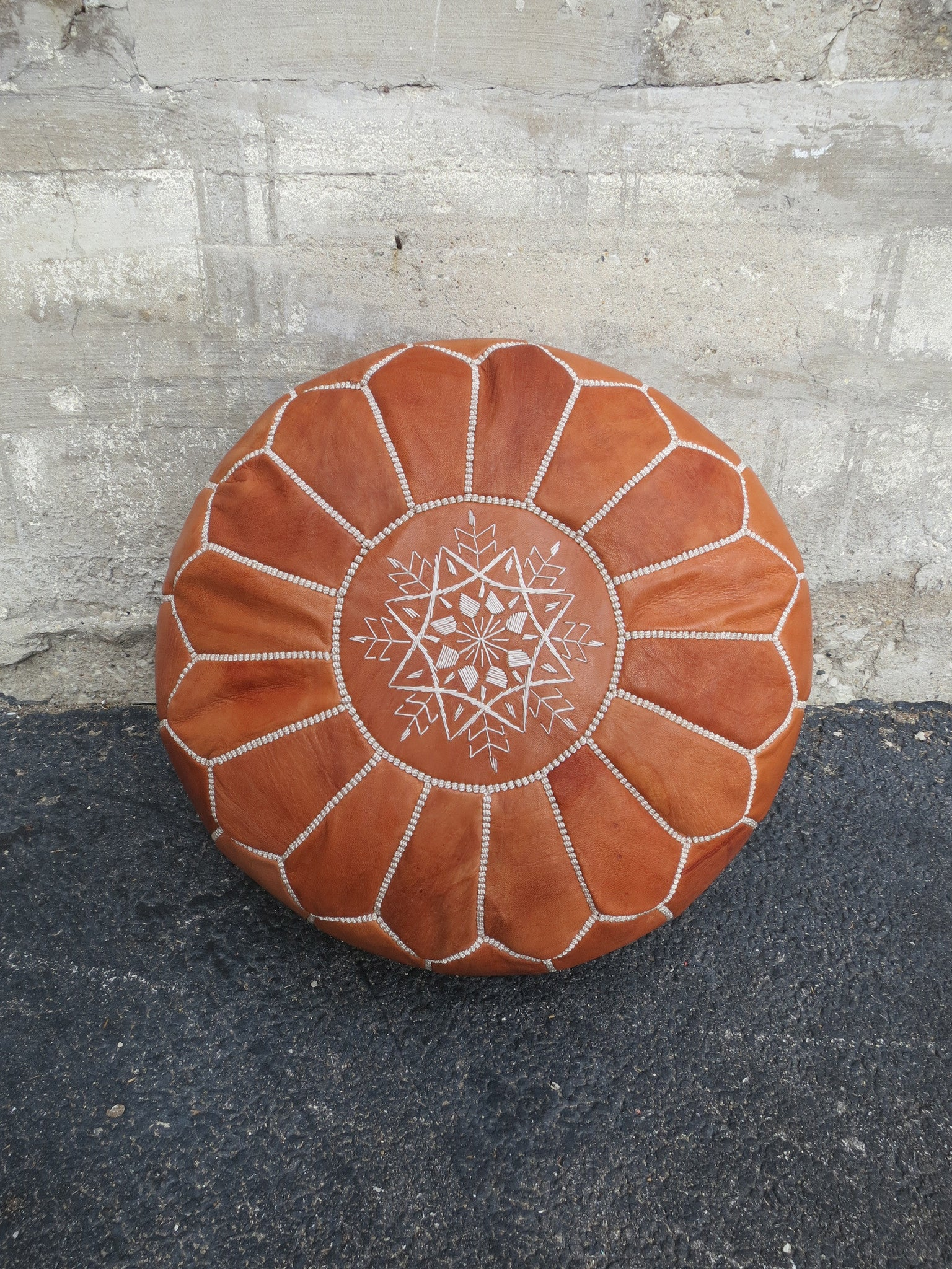 'ALADDIN'S POUF ' MOROCCAN LEATHER FLOOR POUF - Maven Collection