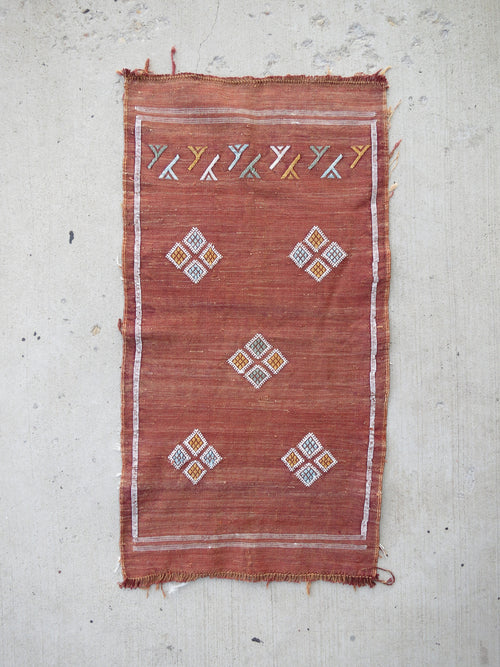 'Apricot' Moroccan Silk Sabra Rug - Maven Collection