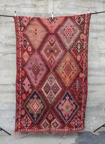 'The Great Divide'  Moroccan Boucherouite Rug