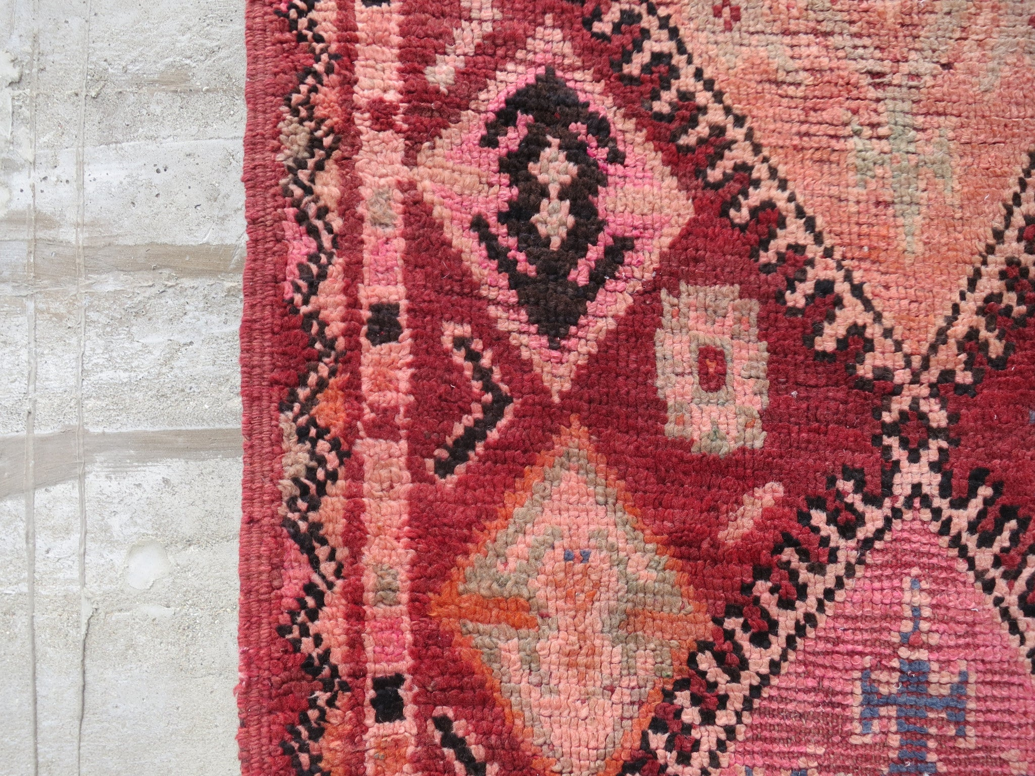 'Russian Navy' Vintage Boujad Rug - Maven Collection