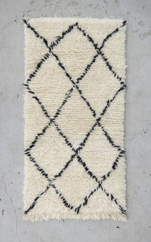 'Emmett'  Vintage Moroccan Beni Ourain Rug - Maven Collection