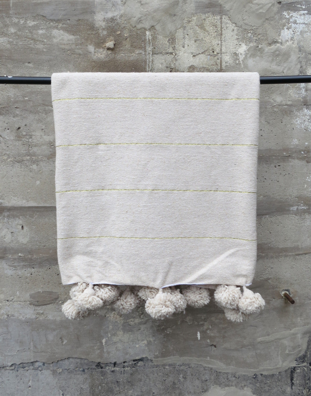 'Goldilocks' Cotton Pom Pom Blanket - Maven Collection