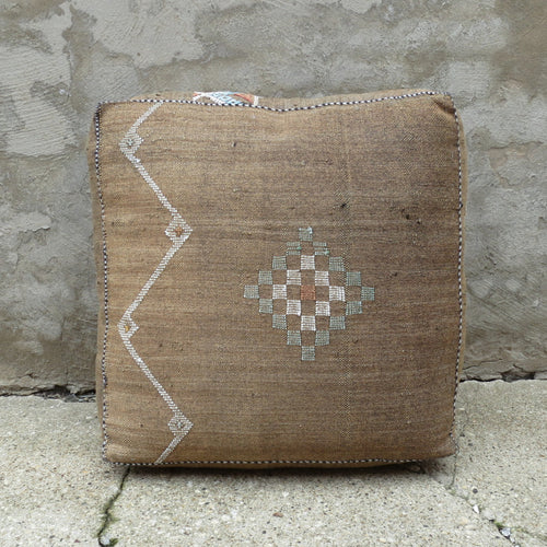 'Desert Taupe' Moroccan Floor Pillow