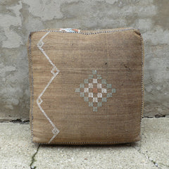 'Desert Taupe' Moroccan Floor Pillow - Maven Collection