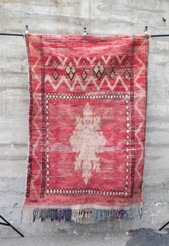 'Dusty Rose' Vintage Berber Rug
