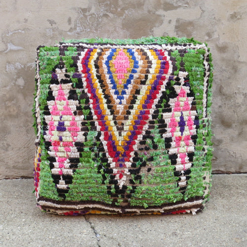'Green Machine' Moroccan Floor Pillow