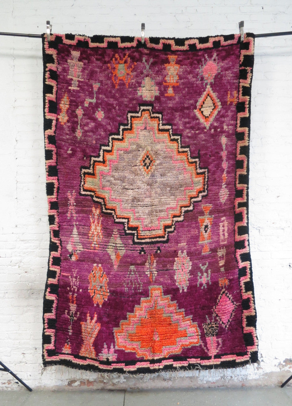 'Eye of the Tiger' Vintage Boujad Rug - Maven Collection