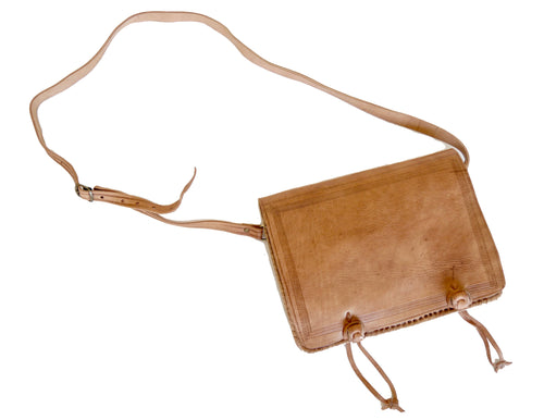 'Souk Shopper'  Moroccan Leather Crossbody Bag